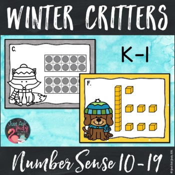 Number Sense Activity Winter Critter Teen Numbers 10-19