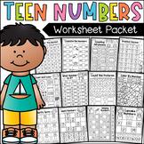 Teen Numbers Worksheets - MEGA PACK