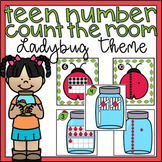 Teen Numbers Kindergarten Center or Write the Room Activity