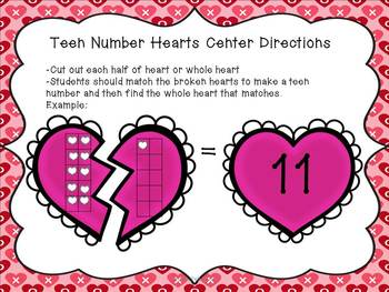 Teen Numbers and Hearts Math Pack