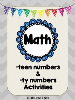 Teen Numbers and Ty Numbers Activities