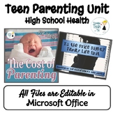 Teen Parenting Costs Unit - Editable in Microsoft Office!