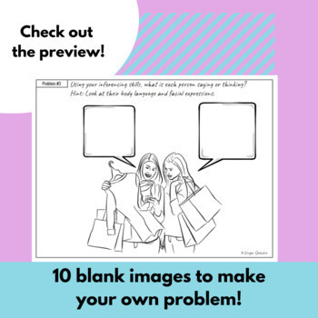 Teen Problem Solving & Inferencing | No Prep | One Sheet Activity 2nd Edition