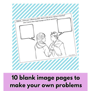 Teen Problem Solving & Inferencing   No Prep   One Sheet Activity