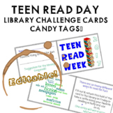 Teen Read Week Challenge Tags - EDITABLE