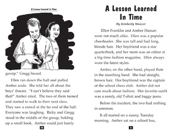Teen Reader Little Book: A Lesson Learned in Time