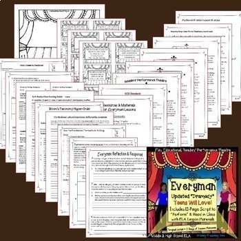 Reader's Theater Teen Bundle: 4 Scripts with Lessons + Resources, Middle & High