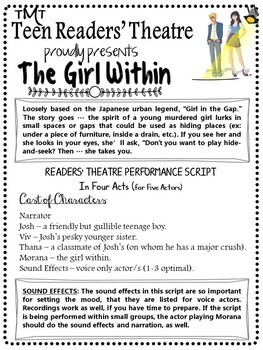 Urban Legend Reader's Theater Script for Teens with Foreshadowing Lessons