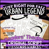 Reader's Theater Script   Horror Urban Legend   Foreshadowing Lesson