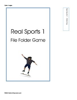 Teen - Real Sports File Folder Games (Real Images) Special Education & Autism