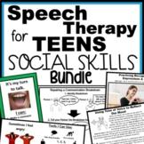 Teen Speech Therapy Social Skills Bundle