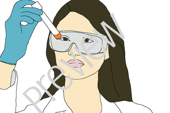 Teen Students in Science Clip Art - Laboratory and Technology Images