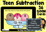 Teen Subtraction ~ BOOM Cards ~ Distance Learning