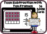 Teen Subtraction with Ten Frames~Spring Edition~ BOOM Card