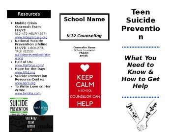 Teen Suicide Prevention Brochure