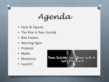 Teen Suicide Prevention Presentation for Staff