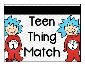 Teen Things Place Value Match {Dr. Seuss}