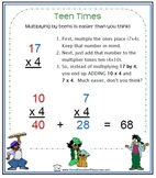 Teen Times:  Mental multiplication