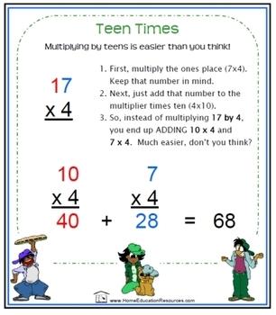 Teen Times:  EASY mental multiplication!