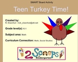 Teen Turkey Time - Roll and Build with Teen Numbers
