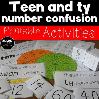 Teen Ty Confusion Printable Activities