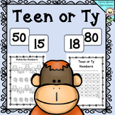 Teen Ty Numbers - To help with Place Value - all Worksheets, Printables