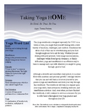 Teen Yoga Workbook