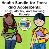 Teen and Adolescent Health Bundle: Puberty, Drugs, Alcohol, Smoking, and Vaping