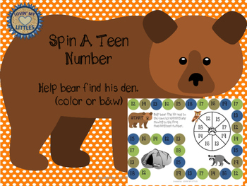 Bear's Den:  A Teen number recognition game