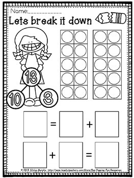 Teen numbers (free worksheet)