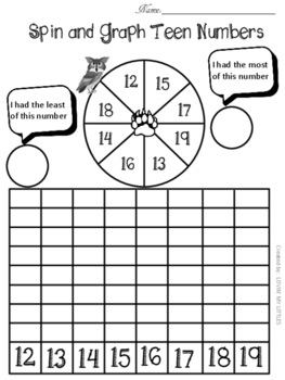 Teen numbers spin and graph