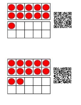 Teen numbers using QR codes