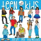 Teenage Kids Clip Art