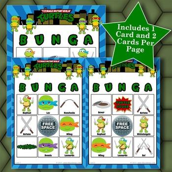 Teenage Mutant NINJA TURTLES 3x3 Bingo