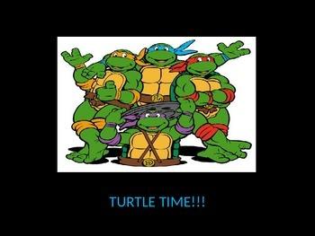 Teenage Mutant Ninja Turtle/Turtle Talk/FRY (Sight) Words/1st Grade List A GAME