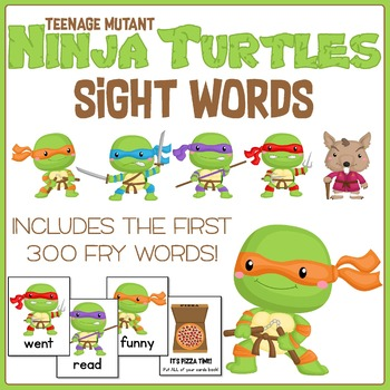Teenage Mutant Ninja Turtles Fry Words Game! Contains the First 300 FRY Words