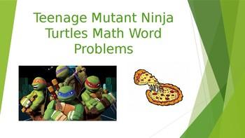 Teenage Mutant Ninja Turtles Word Problems-Editable