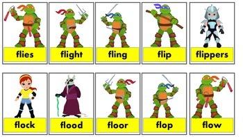 Teenage Mutant Ninja Turtles /l/ blend games