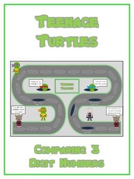 Teenage Turtles Math Folder Game - Common Core - Comparing