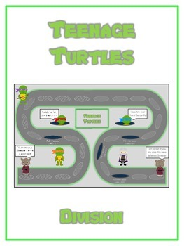 Teenage Turtles Math Folder Game - Common Core - Division