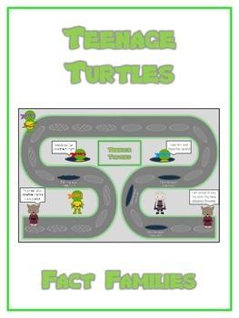 Teenage Turtles Math Folder Game - Common Core - Fact Families