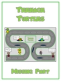 Teenage Turtles Math Folder Game - Common Core - Finding the Missing Part