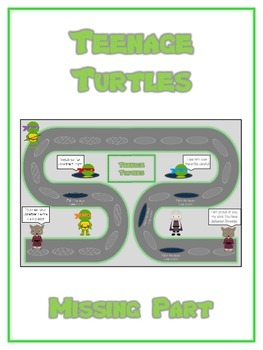 Teenage Turtles Math Folder Game - Common Core - Finding t