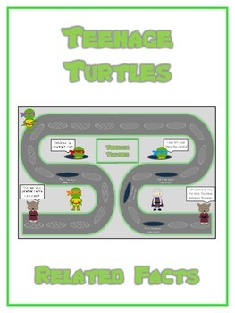 Teenage Turtles Math Folder Game - Common Core - Related Facts
