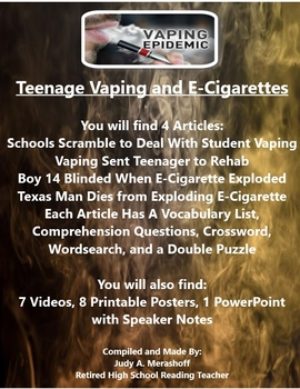 Teenage Vaping and E-Cigarette Resources