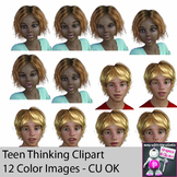 Teenager Emotion Expression Clipart - Subtle Expressions -