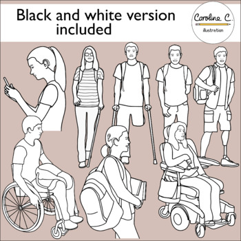 Teenagers With Disabilities Clip Art