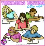Teens Writing clip art