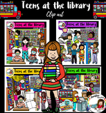 Teens At The Library clip art - 75 items!