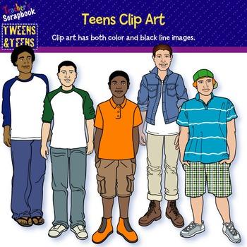 Teens Clip Art